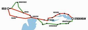 En ny järnvägsförbindelse till Oslo kan dras genom Västerås.
