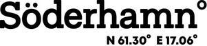 Foto: Söderhamns kommun. Koordinaterna som används i platslogotypen när det gäller hela Söderhamn, kommer från en plats på Östra berget. Koordinaterna kan bytas ut beroende på vad man vill marknadsföra.