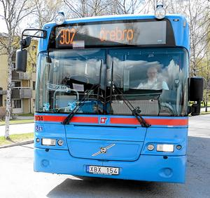 Buss 302 tar pendlar från Norra länet till Örebro. Det är en av de linjer som inte längre trafikerar Konserthuset.