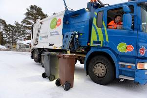 Sophämtning i Älvdalen, dyrast i länet.