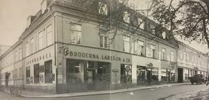Hörnet Stora gatan/Slottsgatan 1949.