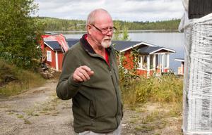 Sven-Bertil Johansson hoppas att investeringen ska göra att fastigheten invid sjön Stora Björken ökar i värde.