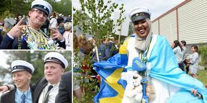 Glädjen var stor bland studenterna på Praktiska gymnasiet i Sundsvall. Fardowsa Hassan Ahmed var en av alla lyckliga studenter.