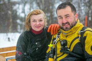 Och så här ser de ut med blottade ansikten:  Irena Stangierska och Mariusz Dziobek.