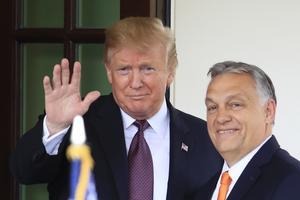 USA:s president Donald Trump och Ungerns premiärminister Viktor Orban. Två populistiska ledare.