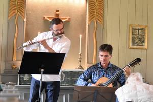 Tobias Carron och Per Skareng avslutade sommarens konsertserie i Böna Kapell.