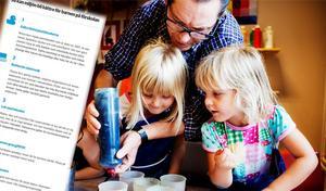 Listan på hur det miljömässigt ska bli bättre på förskolan innehåller många punkter.