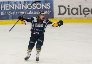 Markus Nygren stod för 15 poäng på sin 38 matcher med Borlänge.