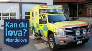 Kommer ambulansen tillbaka till Rättvik? Foto: Arkivbild
