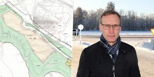 """I 13 år har den väntat """"Detaljplan Stortäppa"""". Men nu är det dags att skaka liv i exploateringsplanerna tycker Gagnefs näringslivsutvecklare, Tomas Kristoffersson."""