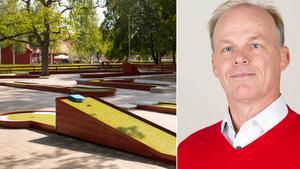 Kultur- och fritidschefen Roger Nilsson menar att flytten av bangolfen blivit ett lyft för Stadsparken.