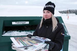 Ida Blomqvist, renhållningschef på Borab, vill ge beröm till snöröjarna som sina medarbetare. Foto: Kristian Westin.