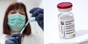 Att ge Pfizers vaccin som dos nummer två efter vaccinering med Astra Zenecas vaccin ökar risken för biverkningar. Men det är milda biverkningar, enligt en ny studie. Foto: Johan Nilsson / TT