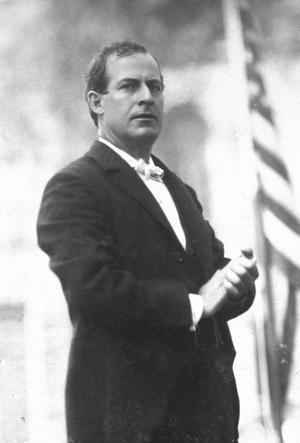 William Jennings Bryan under presidentvalet 1896. Foto: Geo. H. Van Norman