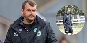 Thomas Gabrielsson fick se Petar Petrovic träna med VSK för första gången. Foto: Nicklas Elmrin / Bildbyrån
