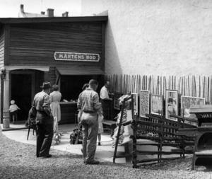 1959. Utställning vid Mårtens Bod. Fotograf: ÖP arkiv