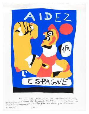 Den tidigaste affischen som Mirò skapade 1937 finns med i utställningen - en  kampbild för den spanska republiken och mot Franco.