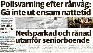 Rånvågen i Borlänge har inte hejdats.