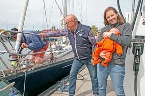 Odde och Josefine Rydholm på Sjömacken i Nynäshamns gästhamn.
