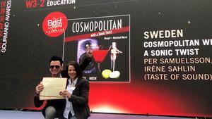 Gävletonsättarna Per Samuelsson och Iréne Sahlin fick anledning att jubla i samband med Gourmand Awards i Kina. Bild: Pelle Agorelius, Grythyttan