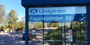 Lindgården är en av de hållplatser som dras in i mitten av augusti.