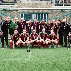 Selånger FK segrade med sitt ena lag i damklassen sedan de slagit ut sitt andra lag i semifinalen. Foto: Privat.