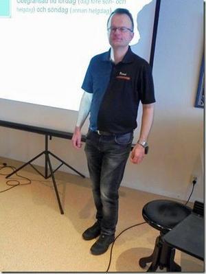 Trafiklärare Per-Lennart Gunnarsson . Foto: Helga Berg