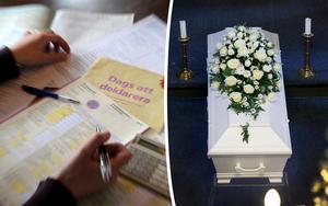Charlotte Runius skriver att det är orimligt hur mycket vi betalar i begravningsavgift i förhållande till vad vi får ut. Vid kommande deklarationer hoppas hon få se en halvering av summan. Bild: Anders Wiklund/TT / Gorm Kallestad/TT