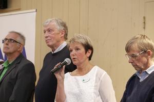 LPO var det parti som gick fram mest i Nora, här Pia-Maria Johansson under NA:s TV-sända debatt. Arkiv