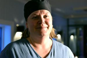 Mari Moberg berättar att det roliga med jobbet är alla nöjda kunder.