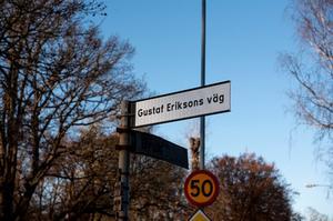 Delar av kontorsvägen i Surahammar byter namn till Gustaf Eriksons väg. Foto: Surahammars Kommun