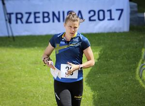 Landslagsorienteraren Helena Bergman bojkottar O-ringen till följd av att BAE Systems Hägglunds sponsrar evenemanget.Foto: TT Nyhetsbyrån