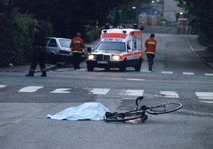 Foto: TT/Ulf Palm/Foto Dalmas. Efter att fem kvinnor skjutits till döds föll även två män offer för Mattias Flinks kulor, en på cykel och en körandes i bil.