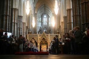 Interiör från Westminster abbey. Foto: Victoria Jones/AP