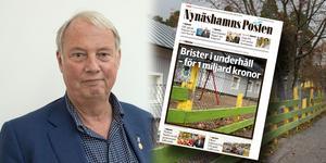 Kommunstyrelsens ordförande Harry Bouveng (M) är inte förvånad över kritiken mot kommunens sätt att sköta sina fastigheter.
