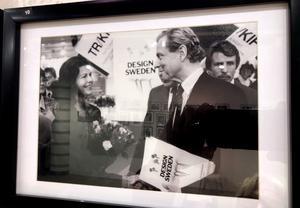 Fotografen Stig Svedfelt själv tillsammans med drottning Silvia.