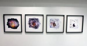 Här har Skeidsvoll dokumenterat hur kemin jobbar över tid. Samma bild avfotograferad fyra gånger.