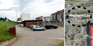 Mitt emot Mitthems hus på Norra kajen ska det nya parkeringshuset byggas.