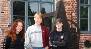Jill Wrethagen, Johan Grunne och Angus Lundgren.