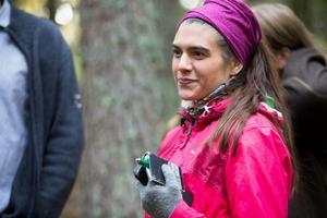 Ylva Bergaskörd från Järna var med på exkursionen.