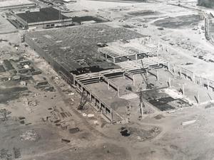 Så här såg bygget av Scanias chassiverkstad ut 1966.