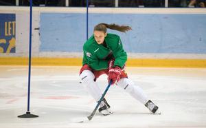 Daniela Pejsova med fullt fokus under stafetten. Tjeckiskan ingick i vinnarlaget.