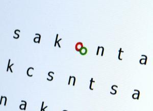 En röd och en grön ring visar exakt hur ögonen rör sig över bokstäverna. Om ögonen hoppar fram och tillbaka för mycket kan det vara ett tecken på att man behöver öva mer på läsning.