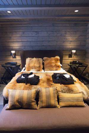 Mjuka sängar i Copperhills villa.