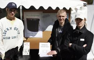 Håkan Tjernström, Jonathan Westlund och Joel Kjellberg kom på idén om en offentlig cykelpump.