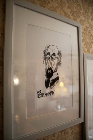 Konstverk som Johan målade när han fortfarande såg.