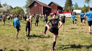 Att det är viktigt med uppvärmning tyckte nog de flesta som var på plats för att springa under lördagen.