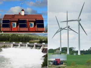När det pratas förnybara energikällor pratas det sol, vind, vatten och biobränsle. Foto: TT och LT