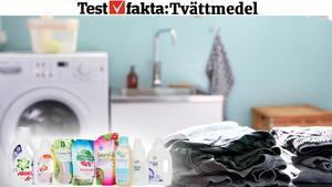 Testfakta har testat åtta olika flytande kulörtvättmedel.Bild: Henrik Montgomery/TT;