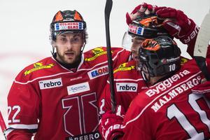 Jonathan Andersson gjorde en assist för Tre Kronor, precis som lagkamraten i Örebro, Mathias Bromé. Bild: Dennis Ylikangas/Bildbyrån